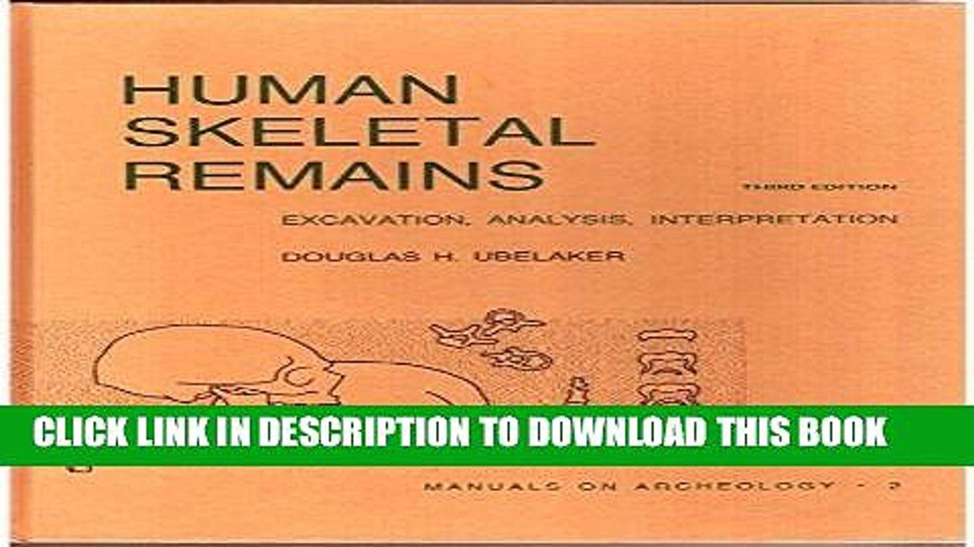 Interpretation Analysis Human Skeletal Remains Excavation