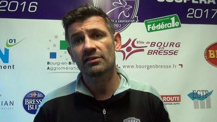Rugby Fédérale 1 - Laurent Mignot réagit après USB - Roval Drôme XV
