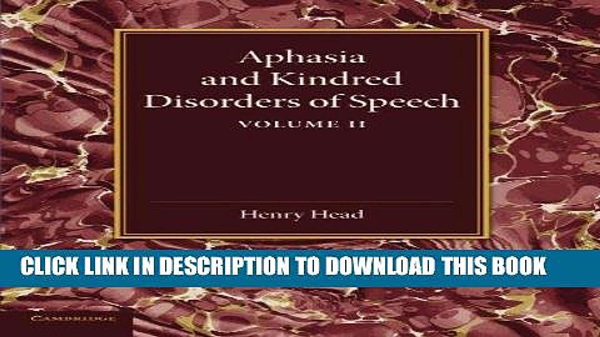[DOWNLOAD] PDF Aphasia and Kindred Disorders of Speech: Volume 2 New BEST SELLER