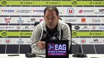 La réaction de Stéphane Moulin après EAG-Angers (1-0)
