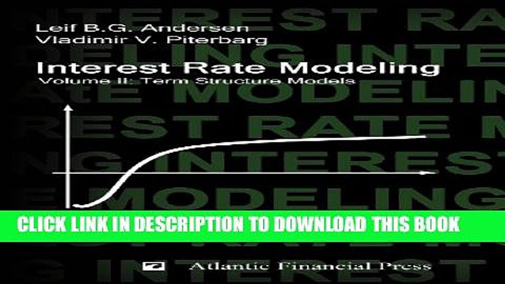 Andersen piterbarg interest rate modeling pdf