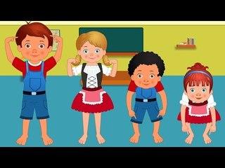 Cabeça, Ombro, Joelho e Pé | berçário português rimas compilação | portuguese kids songs collection