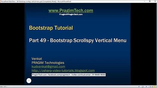 Bootstrap scrollspy vertical menu - Video Dailymotion