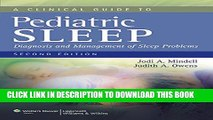 [PDF] A Clinical Guide to Pediatric Sleep: Diagnosis and Management of Sleep Problems Full Online