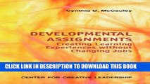 Collection Book Developmental Assignments: Creating Learning Experiences Without Changing Jobs