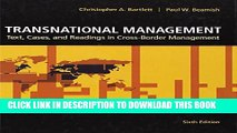 [PDF] Transnational Management: Text, Cases   Readings in Cross-Border Management Popular Colection