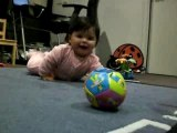 Alma Playing with a ball