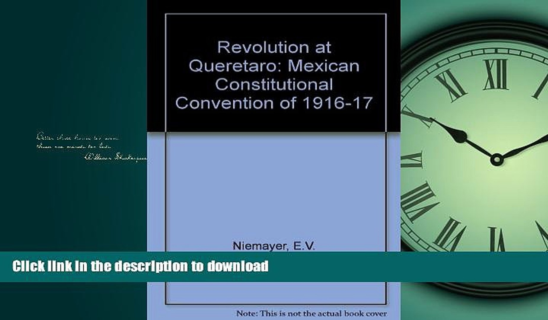 EBOOK ONLINE Revolution at Queretaro: Mexican Constitutional Convention of 1916-17 (Latin American