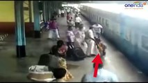 Maharashtra cop saves woman from fatal accident at railway station, Watch Video  Oneindia News