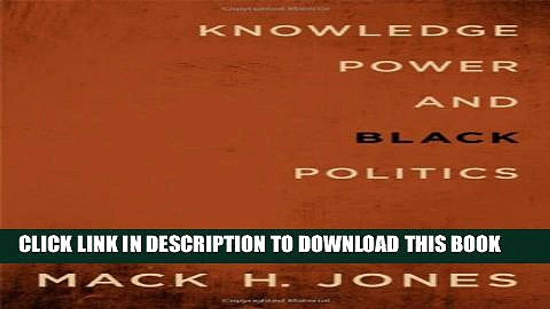 [Read PDF] Knowledge, Power, and Black Politics: Collected Essays (Suny Series in African American