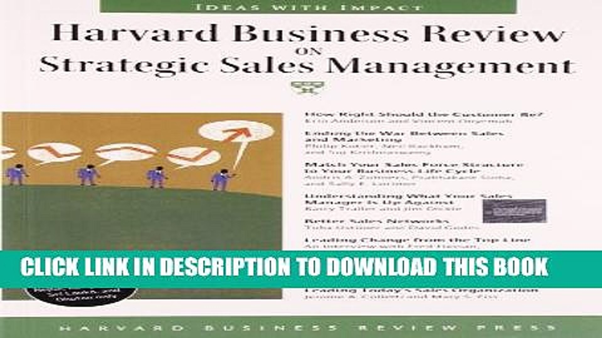 [PDF] Harvard Business Review on Strategic Sales Management (Harvard  Business Review Paperback