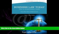 different   Business Law Today, Standard: Text and Summarized Cases (Miller Business Law Today