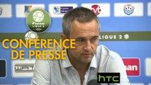 Conférence de presse Tours FC - Gazélec FC Ajaccio (0-3) : Fabien MERCADAL (TOURS) - Jean-Luc VANNUCHI (GFCA) - 2016/2017