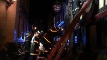 Début d'incendie au Restaurant Le Nez rouge dans le vieux Mans