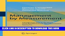 [PDF] Management by Measurement: Designing Key Indicators and Performance Measurement Systems