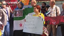 برپایی تظاهرات بر ضد دولت سوریه در چند شهر اروپایی