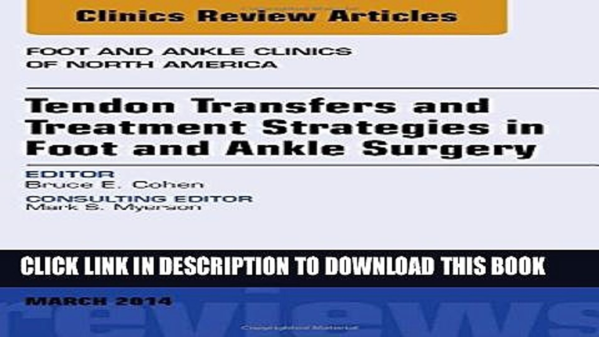 [PDF] Tendon Transfers and Treatment Strategies in Foot and Ankle Surgery, An Issue of Foot and