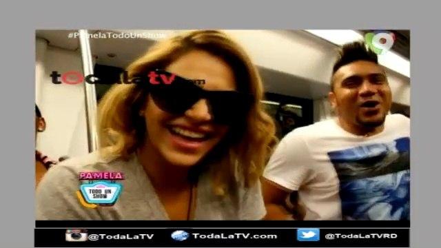 Pamela y Silvio Mora hacen un 'pary' en el Metro-Pamela Todo un Show-Video