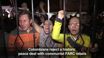 Colombians shock government, rejecting peace deal