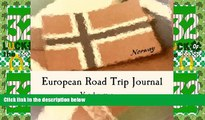 Big Deals  European Road Trip Journal: Norway Flag Cover (S M Road Trip Journals)  Best Seller