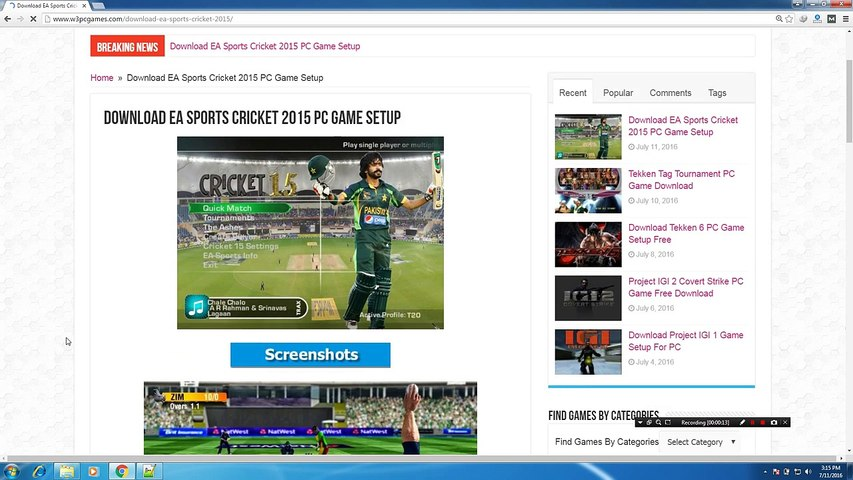 How To Download and Install EA Sports Cricket 2015 PC Game Setup