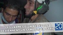 Un bénévole ému aux larmes par le sauvetage d'un bébé en Syrie
