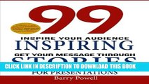 Collection Book 99 Inspiring Stories for Presentations: Inspire your Audience   Get your Message