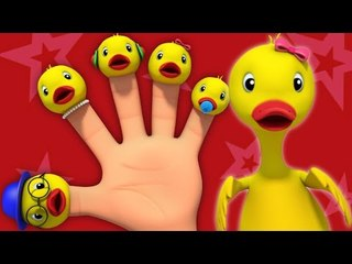 the duck finger family | nursery rhymes Farmees | kids songs | baby videos