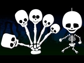 Skeleton Finger Family | Halloween Song | Nursery Rhymes For Kids