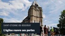 L'église de Saint-Etienne-du-Rouvray rouvre ses portes deux mois après l'attentat