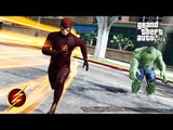 The Flash VS. Hulk (GTA 5 Ultimate Flash Mod)
