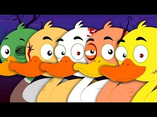 Five Little Ducks | Scary nursery Rhymes For Kids And Childrens | Songs For Babies
