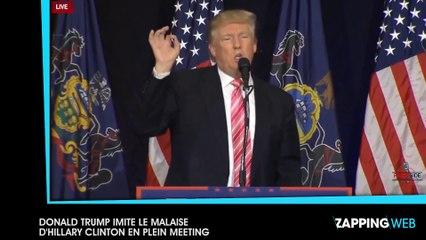 Donald Trump imite le malaise d'Hillary Clinton en plein meeting (vidéo)