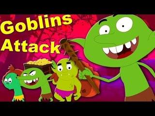 goblin attack   scary rhymes   nursery rhymes   original song   kids videos