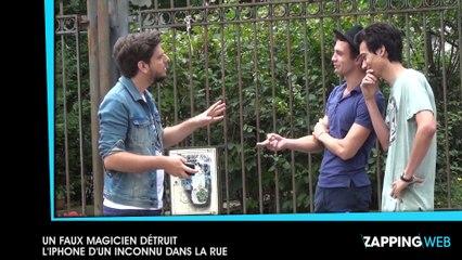 Un faux magicien détruit l'iPhone d'un inconnu dans la rue (vidéo)
