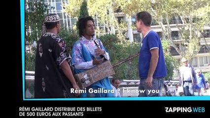 Rémi Gaillard distribue des billets de 500 euros aux passants (vidéo)