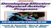 New Book Developing Effective Physical Activity Programs (Physical Activity Intervention)