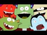 Halloween Songs   Five little Monsters   Scary Nursery Rhymes For Kids   Monsters Song