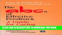 [PDF] The ABCs of Effective Feedback: A Guide for Caring Professionals Full Online