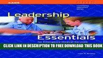 New Book Leadership Essentials For Emergency Medical Services (Continuing Education)
