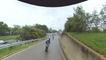 Freeway On-Ramp Wheelie Goes Terribly Wrong