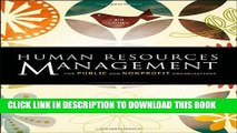 New Book Human Resources Management for Public and Nonprofit Organizations: A Strategic Approach