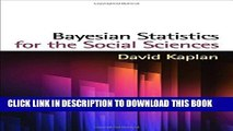 New Book Bayesian Statistics for the Social Sciences (Methodology in the Social Sciences)