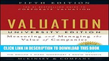 New Book Valuation: Measuring and Managing the Value of Companies, University Edition, 5th Edition