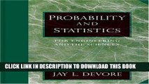 New Book Probability and Statistics for Engineering and the Sciences (with CD-ROM and InfoTrac)