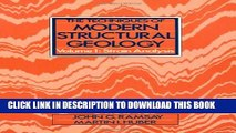 New Book The Techniques of Modern Structural Geology: Strain Analyses