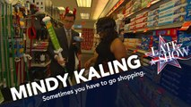 Stephen Helps Mindy Kaling Buy A Mop