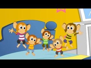 Пять маленьких обезьянок | Five little monkeys