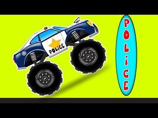 Police Monster Truck   kids videos   monster trucks
