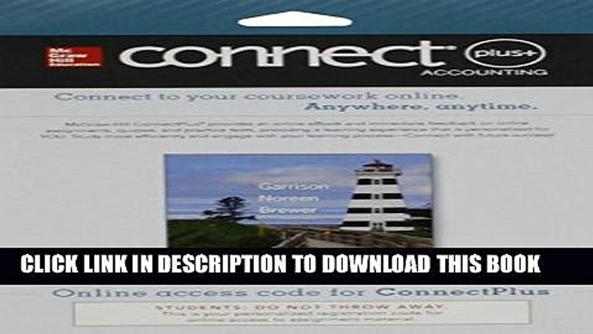 [PDF] Connect 1-Semester Access Card for Managerial Accounting Full Online